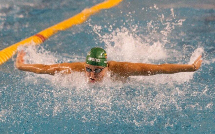R. Meilutytė Anykščiuose iškovojo penktą aukso medalį ir pagerino Lietuvos rekordą