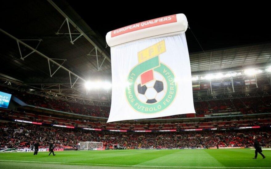 """LFF vėliava """"Wembley"""" stadione"""
