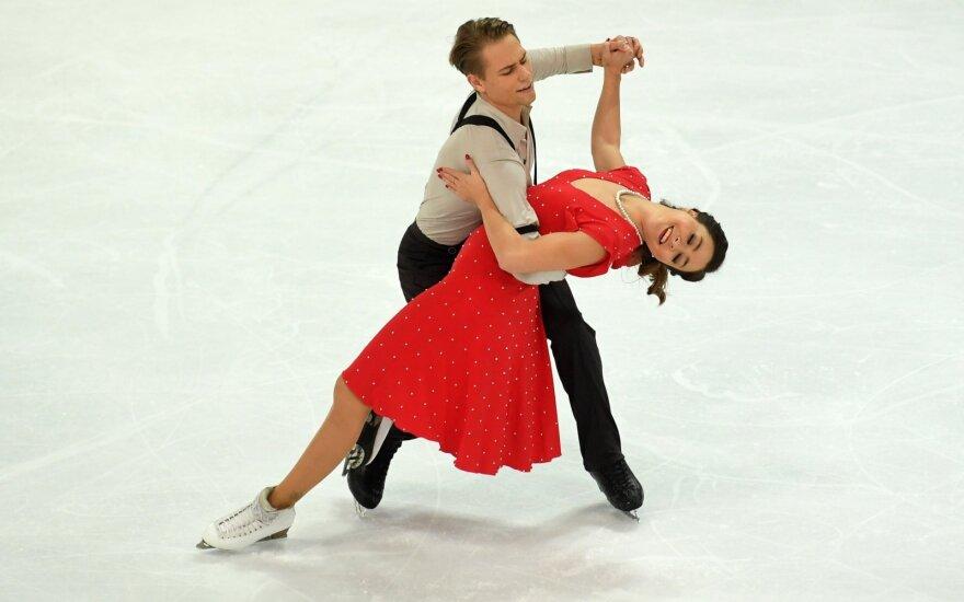 Ledo šokėjai Ambrulevičius ir Reed pasiekė karjeros rekordą