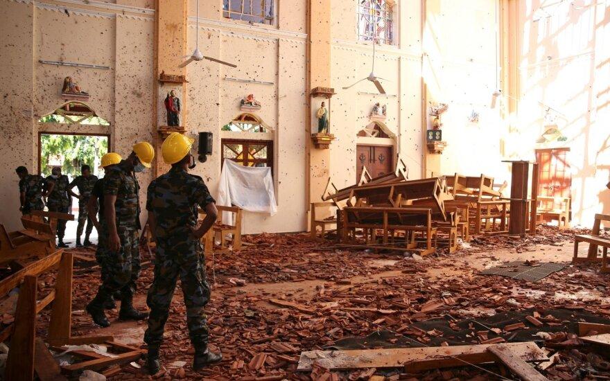 Šri Lankos bažnyčia po sprogimo