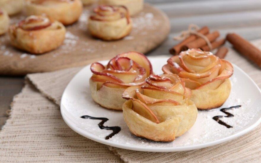 """VIENS-DU: Pyragėliai su obuoliais """"Rožytės"""""""