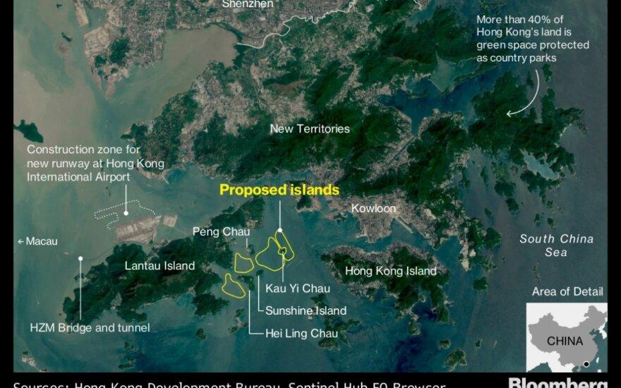 Honkongas suplanavo dirbtinių salų projektus