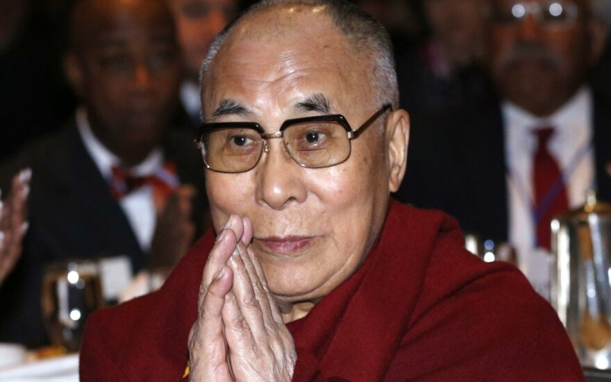 Dalai Lama arrives in Lithuania