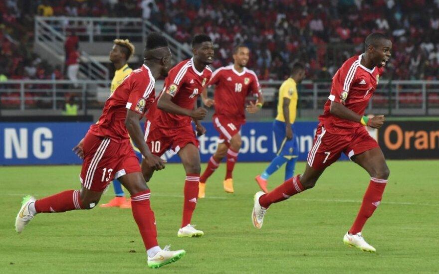 Kongo futbolininkai džiaugiasi pergale