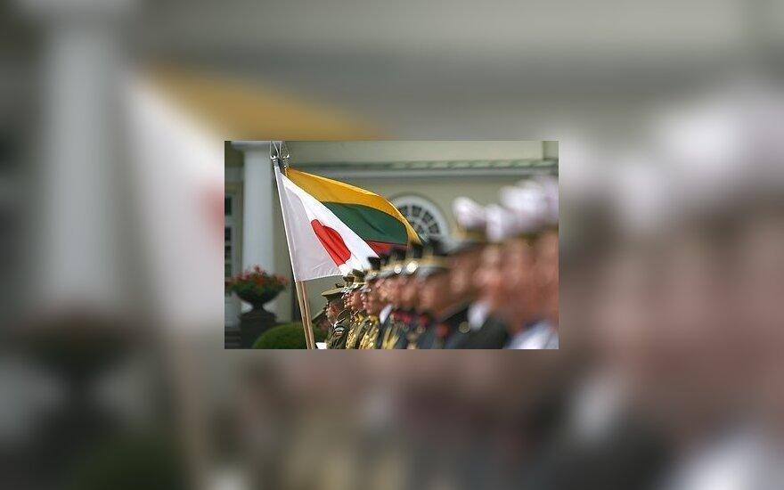 Japonijos ir Lietuvos vėliavos