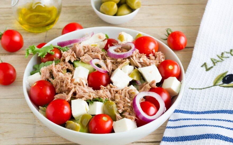 Graikiškos salotos su tunu