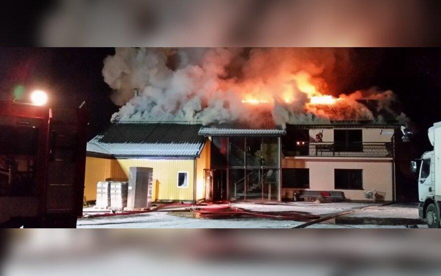 Koldūnų fabrike – didžiulis gaisras