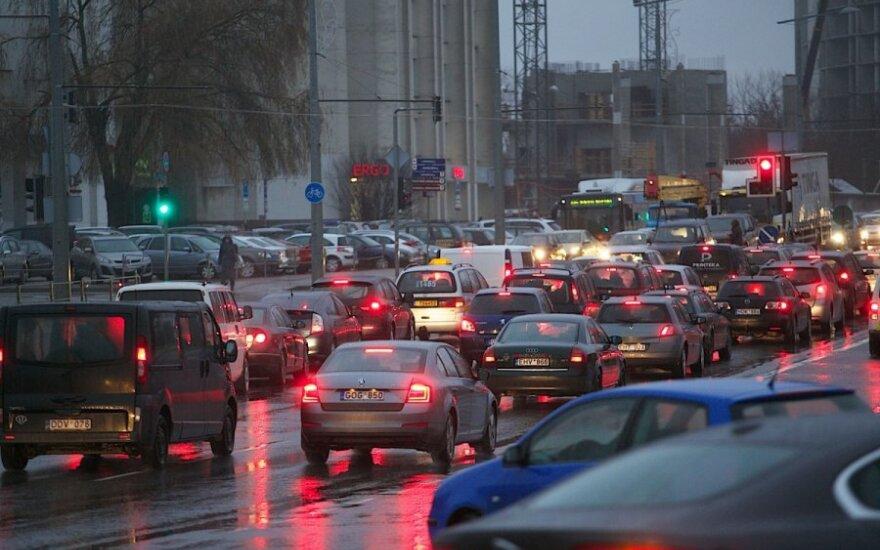 Automobilių spūstys Vilniuje