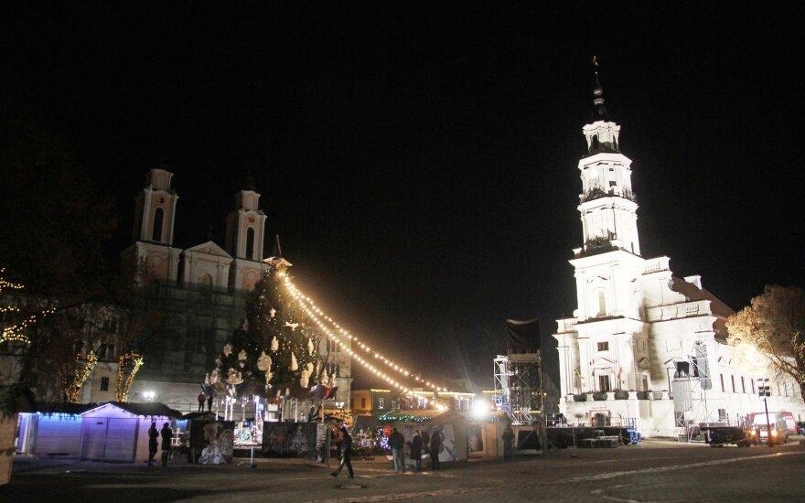 Kaunas ruošiasi eglutės įžiebimui