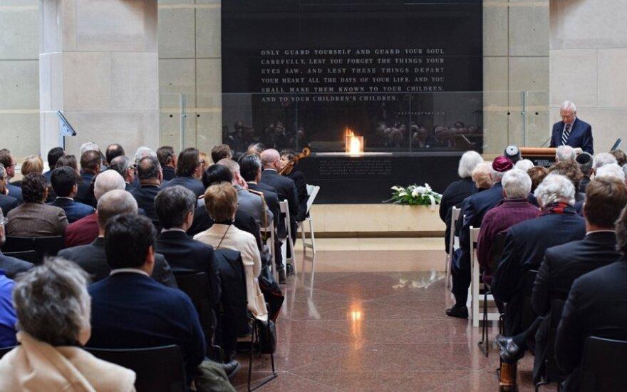Mr. Berger addresses the International Holocaust Remembrance   Photo Ludo Segers