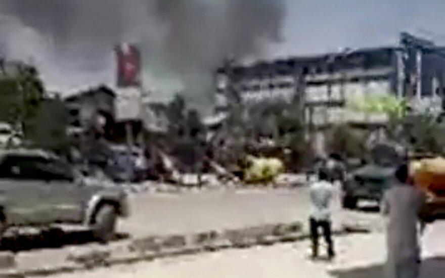 Kabule driokstelėjo keli galingi sprogimai
