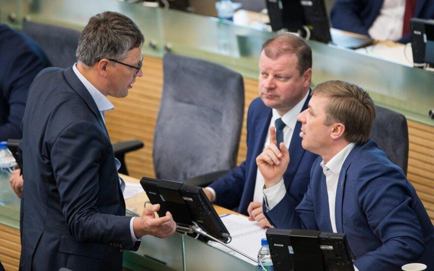 Vytautas Bakas, Saulius Skvernelis, Ramūnas Karbauskis