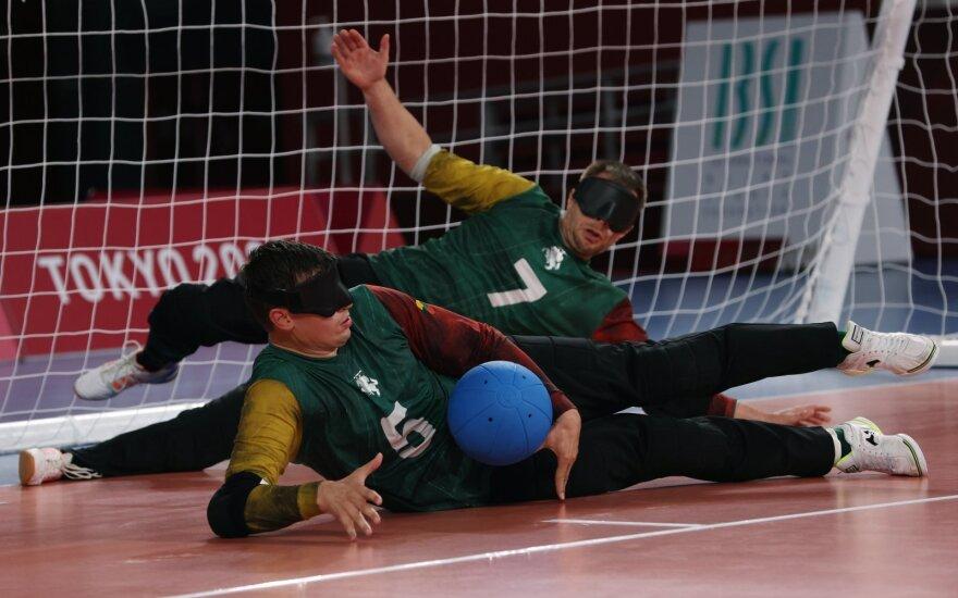 Tokijo paralimpinių žaidynių golbolo turnyro rungtynės dėl trečios vietos: Lietuva - JAV