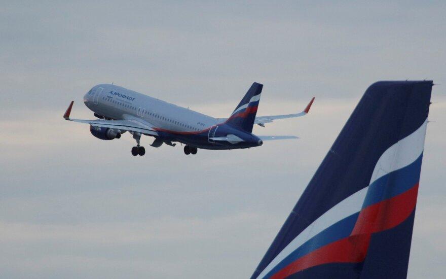 Maskvos oro uoste vienas lėktuvas sparnu kliudė kitą, žmonės nenukentėjo