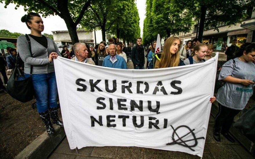 Kaune vyko eitynės prieš aukštas kainas