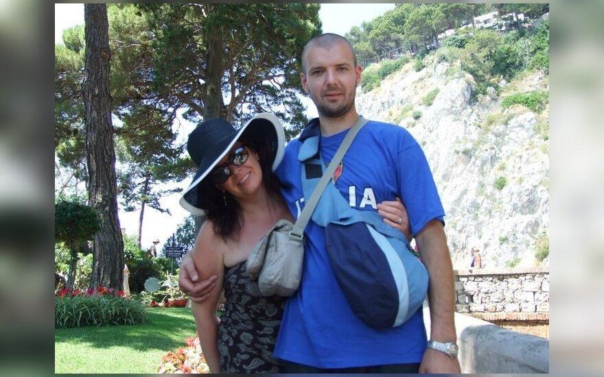 Linas Samėnas su žmona Monika Italijoje