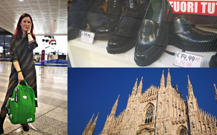 Pažintis su Milanu atsiėjo itin pigiai: itališki batai po 10 eurų, o pusryčiai – 3,50