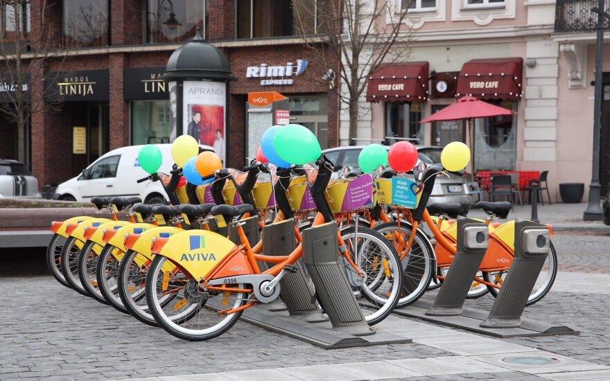 Į Vilniaus gatves išrieda miesto dviračiai