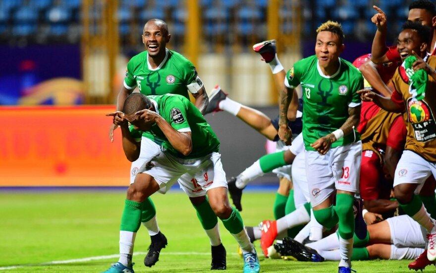 Madagaskaro rinktinės istorinė pergalė aštuntfinalyje