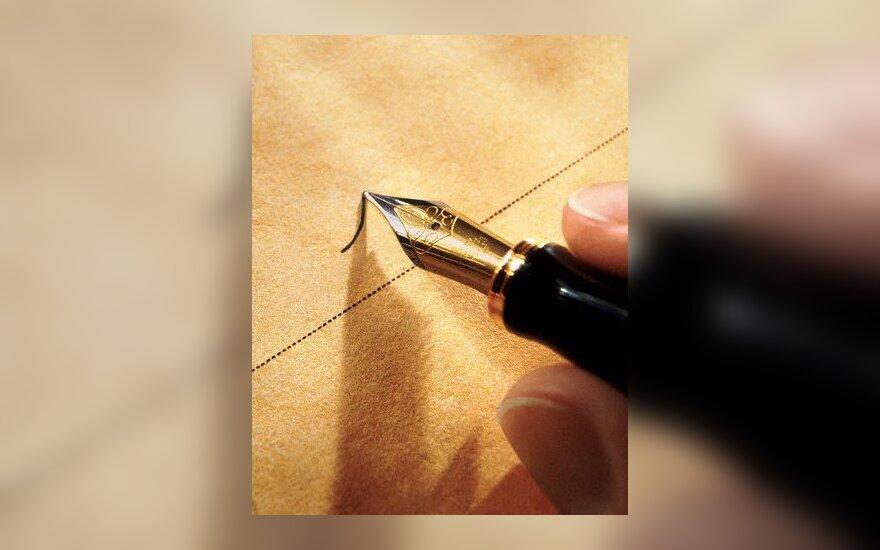 rašyti, parkeris, parašas