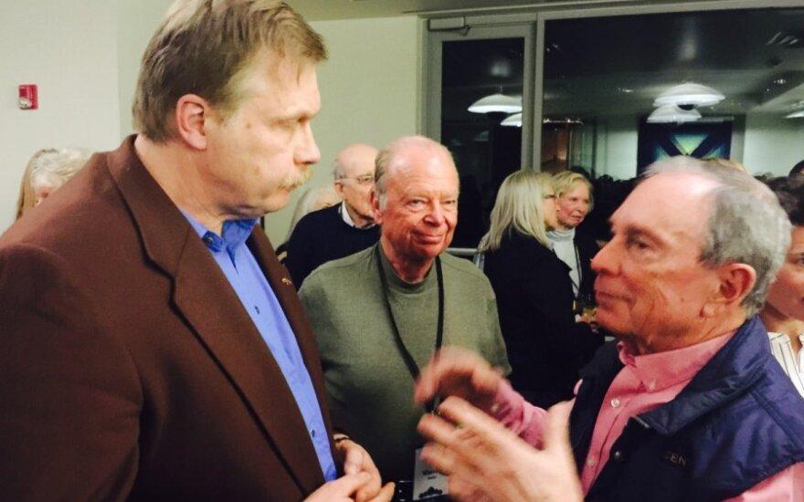 Lithuanian Honorary Consul Jonas Prunskis and Michael Bloomberg
