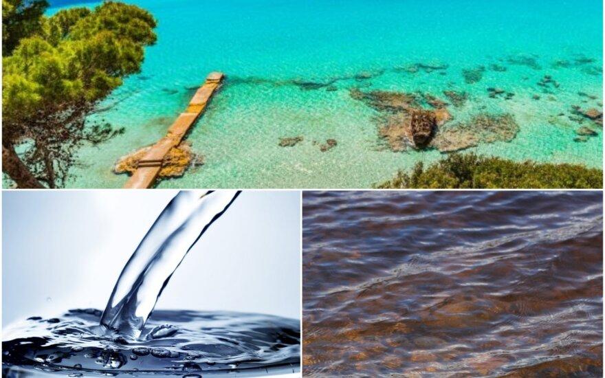 Kokia iš tikro yra vandens spalva?