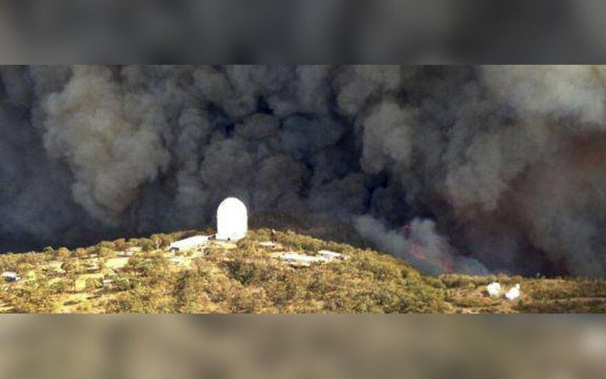 Gaisras ties observatorija Australijoje