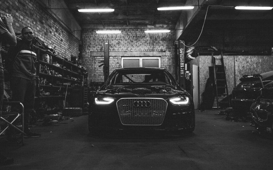 """E. Einikis lenktynėms paruošė naują """"Audi"""""""