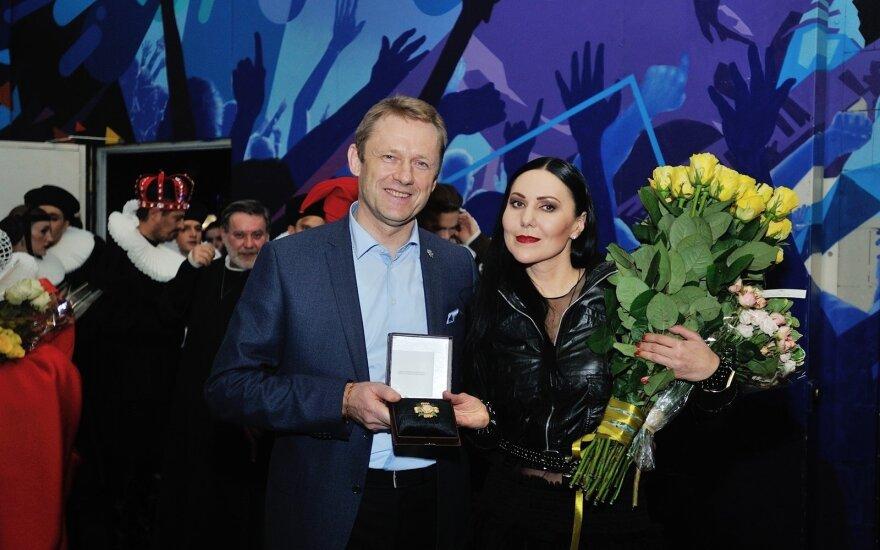 Šarūnas Birutis, Andželika Cholina