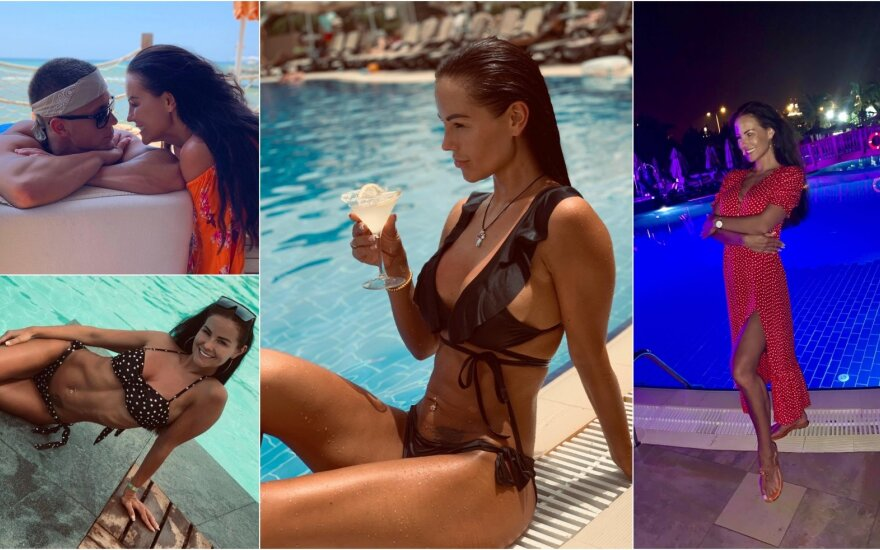 Indrės Burlinskaitės ir jos mylimojo atostogos Turkijoje