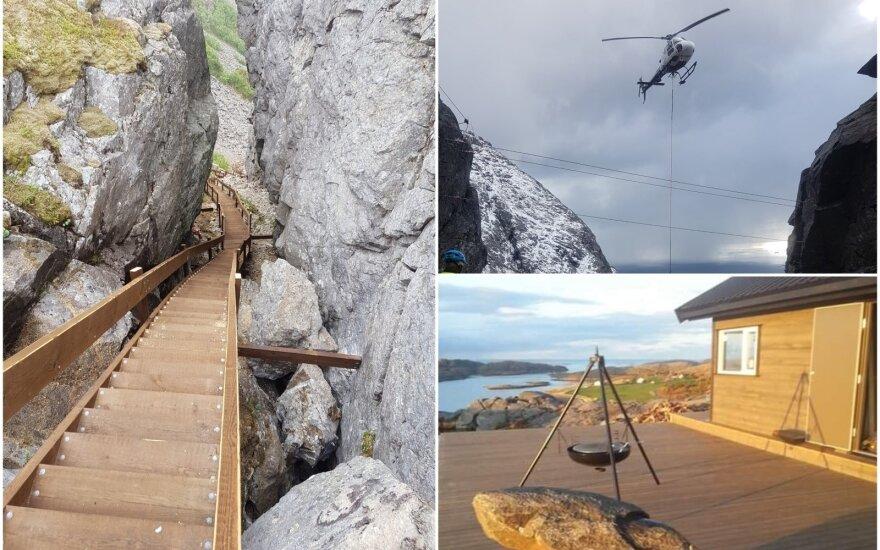 Vegatrappa laiptai Norvegijoje