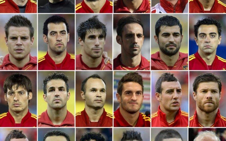 Galutinė Ispanijos futbolo rinktinės sudėtis
