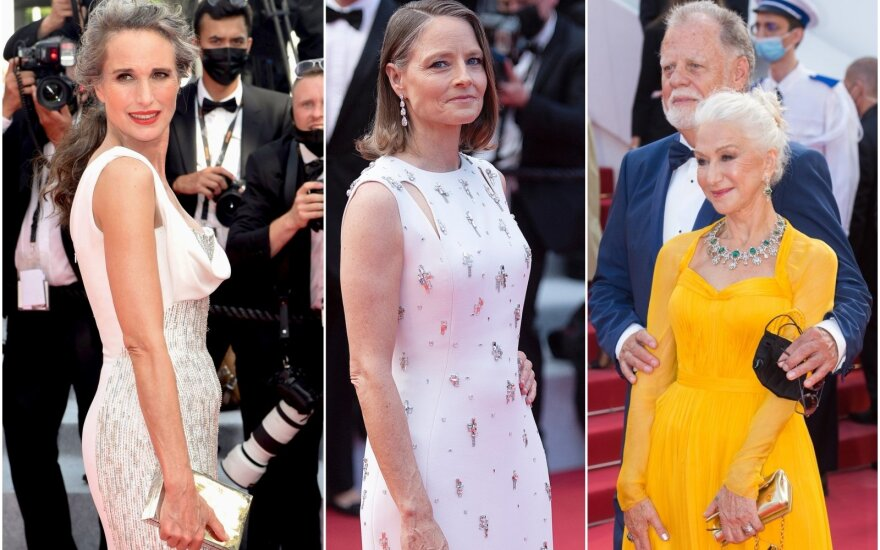 Kanuose aktorės neslėpė žilstančių plaukų