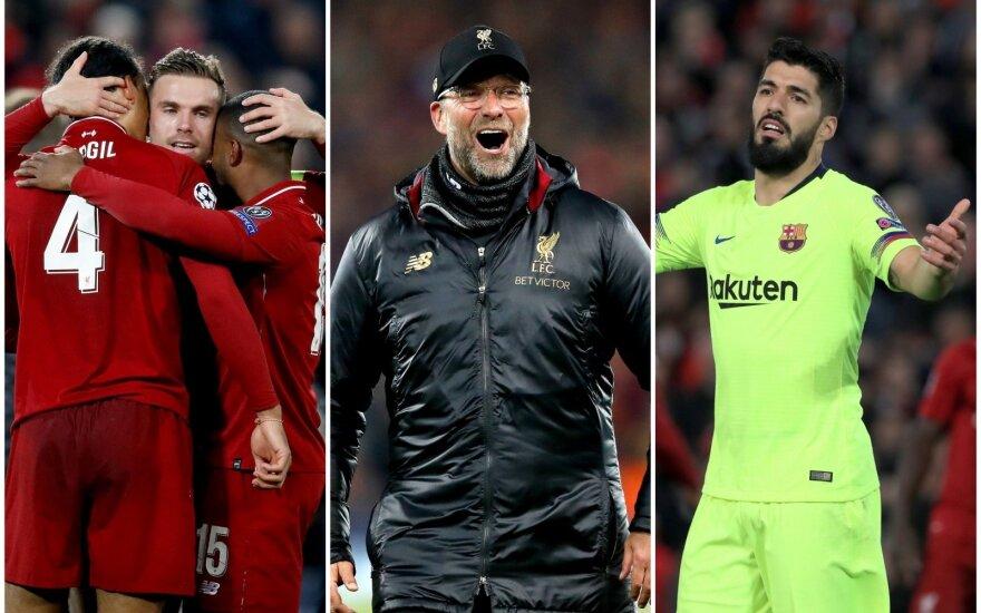 """""""Liverpool"""", Jurgenas Kloppas, Luisas Suarezas"""