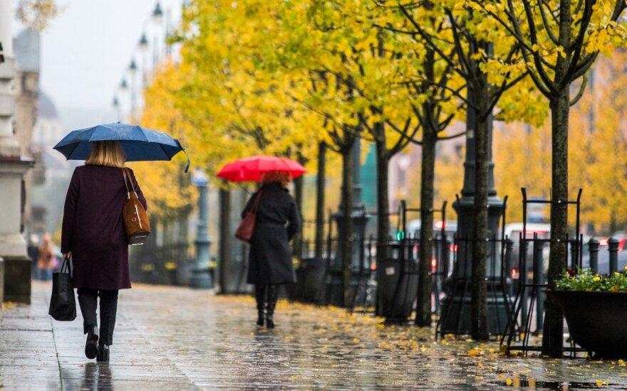 Savaitė prasidės vasariškais orais, bet baigsis rudenišku lietumi
