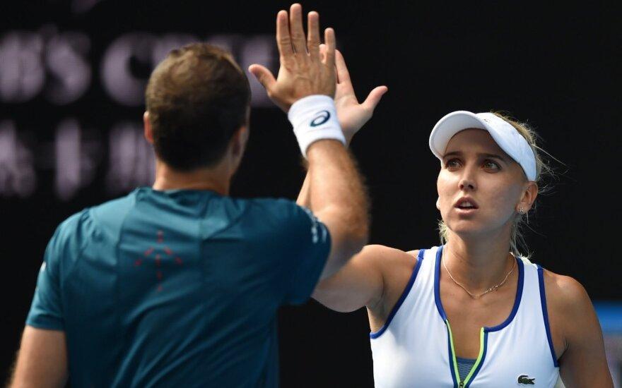 Jelena Vesnina ir Bruno Soaresas
