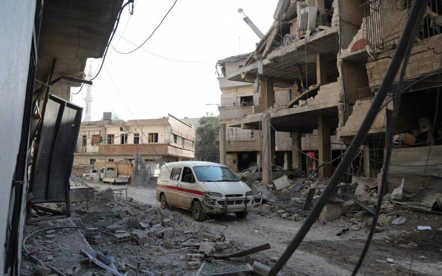 Lavrovas įvardijo, kokiomis sąlygomis pritartų paliauboms Sirijoje