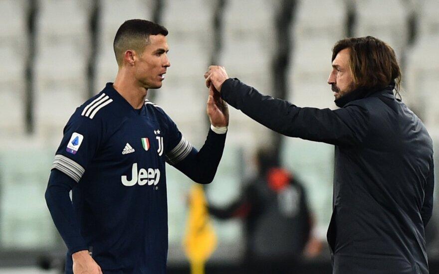 Cristiano Ronaldo ir Andrea Pirlo