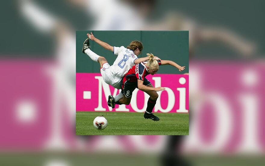 Prancūzijos ir Norvegijos futbolininkių dvikova