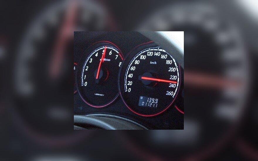 Lietuvos vairuotojai dažniausiai viršija greitį