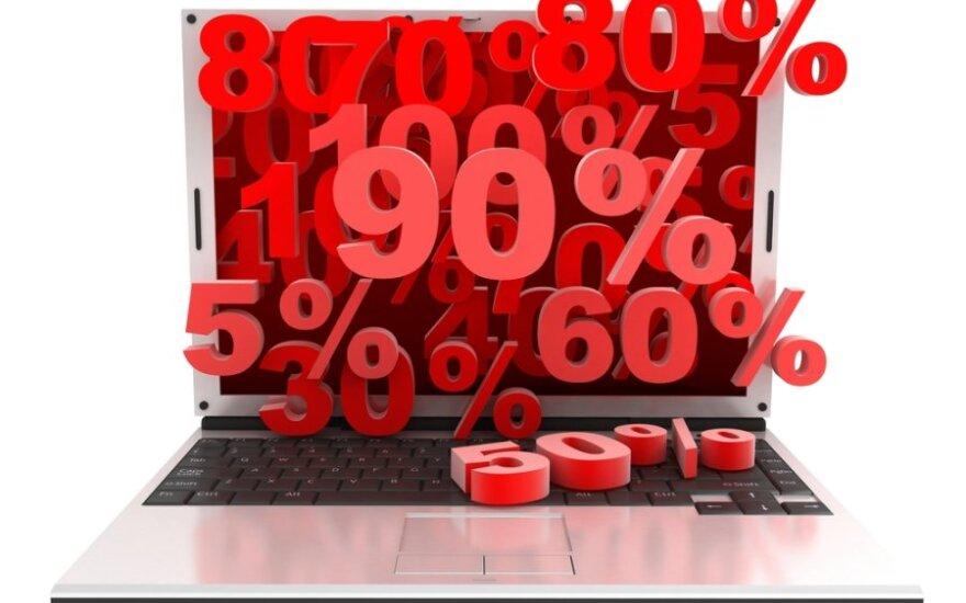 Prekyba internetu, išpardavimas internetu,. elektroninė prekyba, nuolaidos, apsipirkimo portalai
