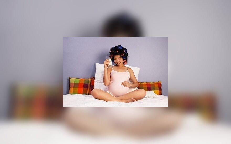 Pienas, nėščia moteris