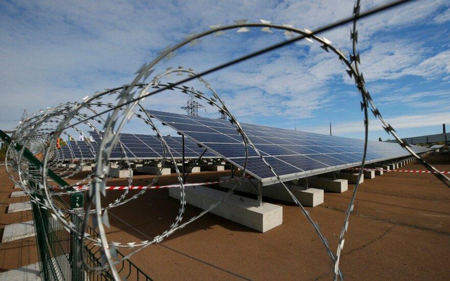 Saulės elektrinė prie Černobylio elektrinės / Asociatyvi nuotr.