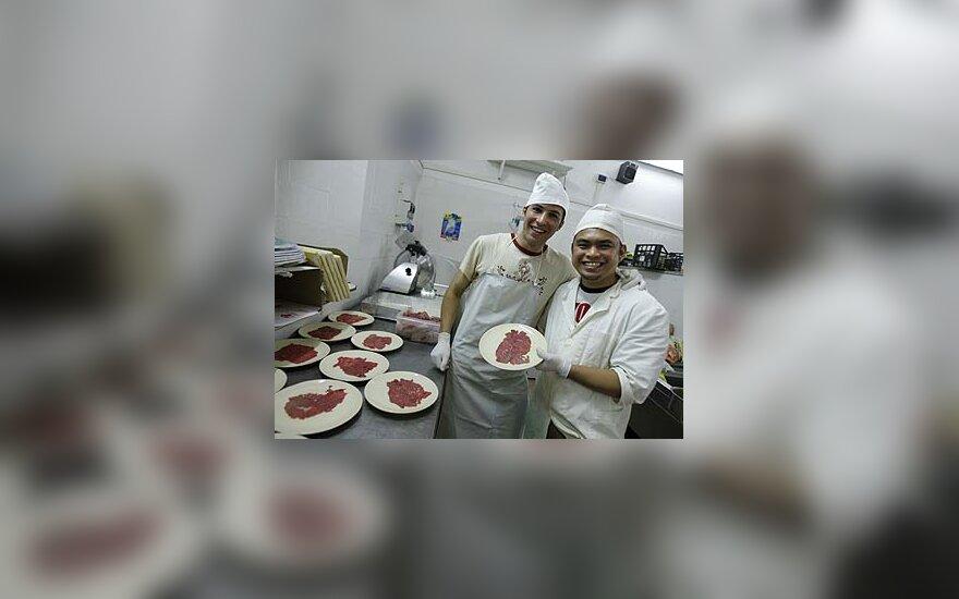 Italijos kalėjimo restorane dirbantys kaliniai