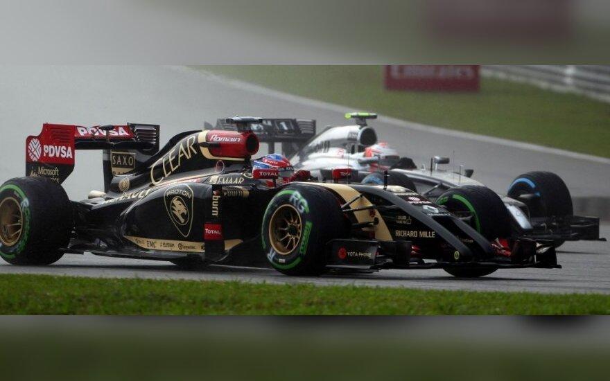 Romainas Grosjeanas ir Kevinas Magnussenas