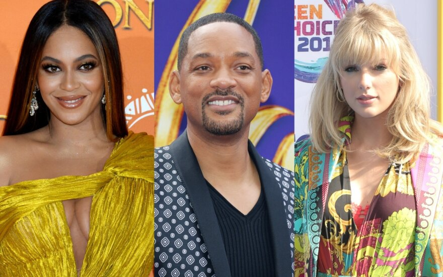 Beyonce, Will Smith, Taylor Swift