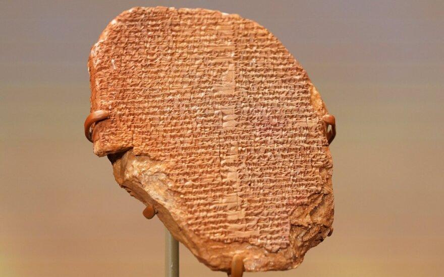 Gilgamešo epo lentelė
