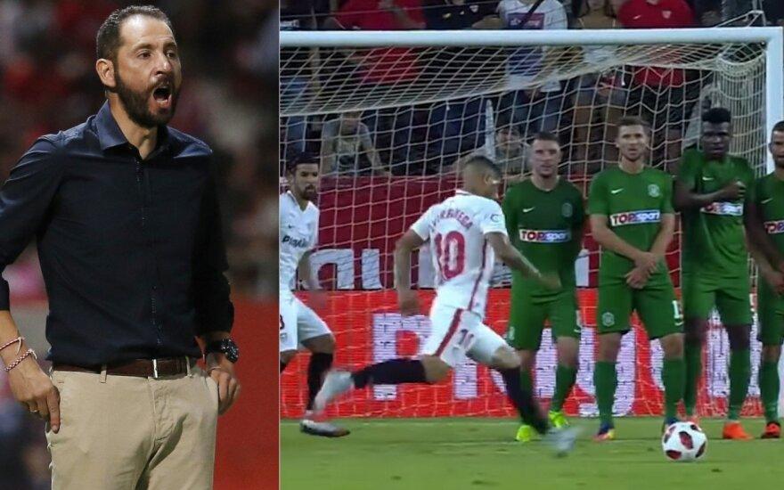 """Pablo Machinas, rungtynės """"Sevilla"""" – """"Žalgiris"""""""