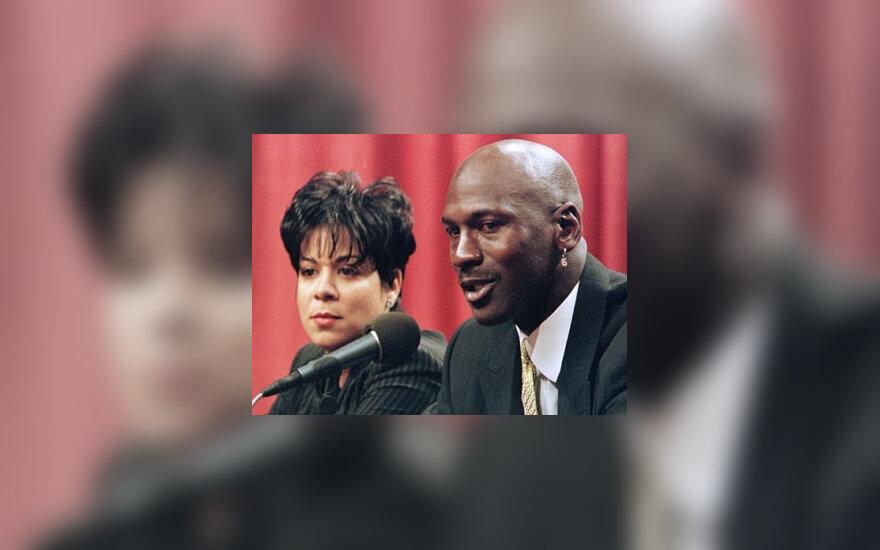 Michael Jordan ir Juanita Jordan