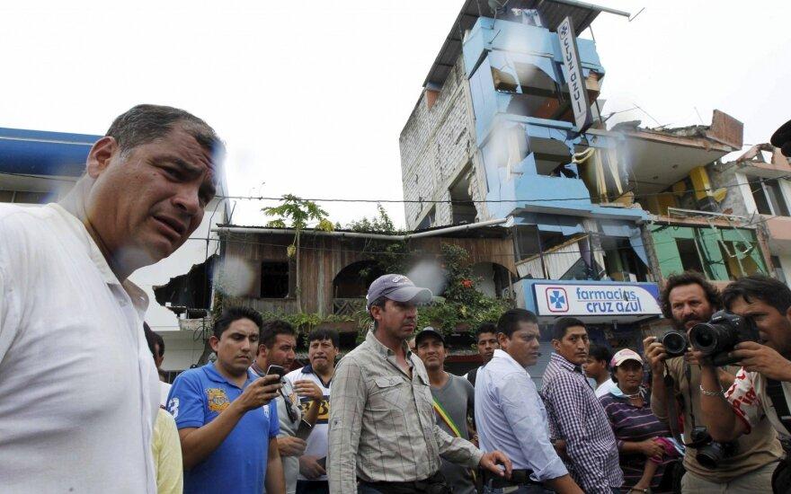 Ekvadoras po žemės drebėjimo